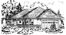 Ranch House Plan 58800 Elevation