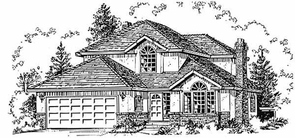 European House Plan 58804 Elevation