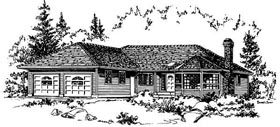 Ranch House Plan 58805 Elevation