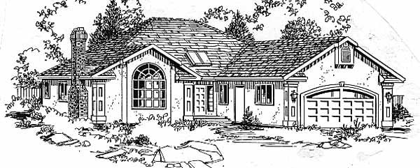 Ranch House Plan 58806 Elevation