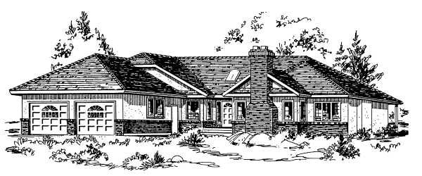 Ranch House Plan 58807 Elevation
