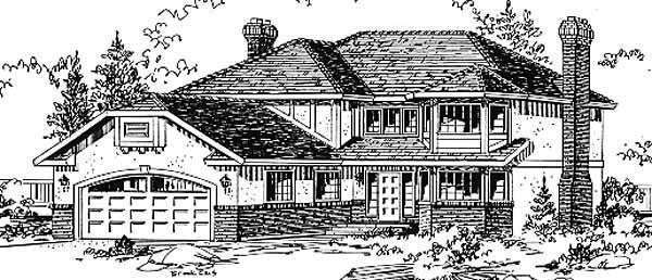 Tudor House Plan 58808 Elevation