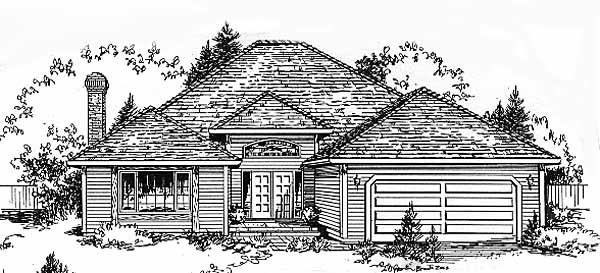 Ranch House Plan 58812 Elevation