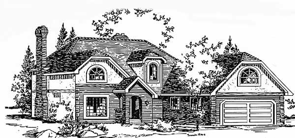 European House Plan 58813 Elevation