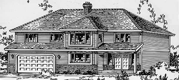 Country House Plan 58814 Elevation