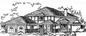 House Plan 58817 | Tudor Style Plan with 2431 Sq Ft, 4 Bedrooms, 3 Bathrooms, 2 Car Garage Elevation