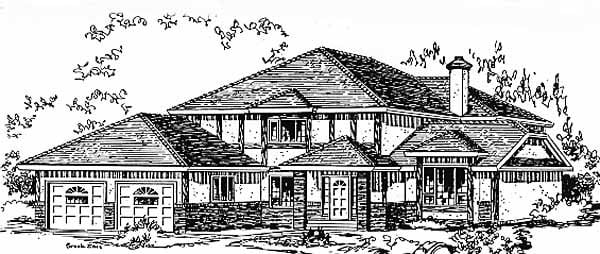 Tudor House Plan 58817 Elevation