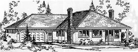 Ranch House Plan 58818 Elevation