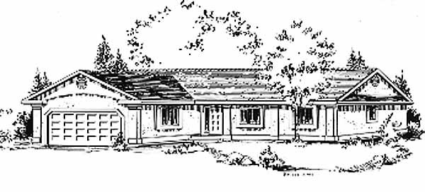 Ranch House Plan 58821 Elevation