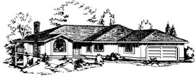 Ranch House Plan 58825 Elevation
