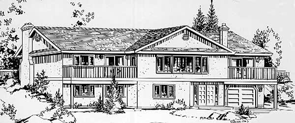 Ranch House Plan 58826 Elevation