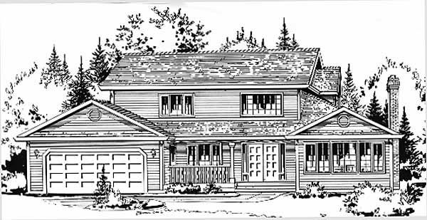 Country House Plan 58831 Elevation