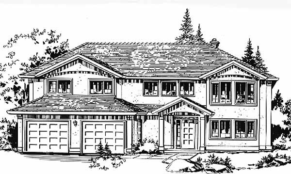 European House Plan 58832 Elevation