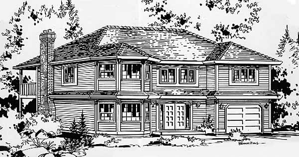 Traditional House Plan 58833 Elevation