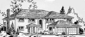 House Plan 58834 | European Style Plan with 1931 Sq Ft, 3 Bedrooms, 2 Bathrooms, 2 Car Garage Elevation
