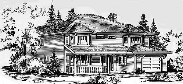 Traditional House Plan 58835 Elevation