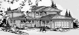 Craftsman House Plan 58838 with 4 Beds, 3 Baths, 2 Car Garage Elevation