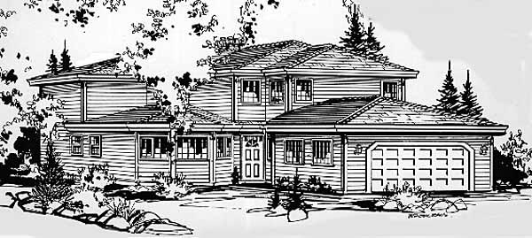 Craftsman House Plan 58838 Elevation