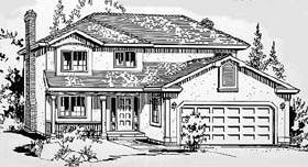 European House Plan 58839 Elevation