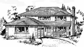 European House Plan 58841 Elevation