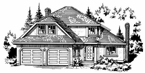 European House Plan 58842 Elevation