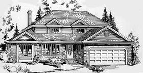 European House Plan 58843 Elevation