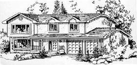 European House Plan 58845 Elevation