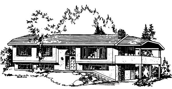 Contemporary House Plan 58847 Elevation