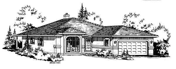 Florida House Plan 58849 with 2 Beds, 2 Baths, 2 Car Garage Elevation