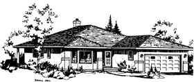 House Plan 58850 | Florida Style Plan with 1540 Sq Ft, 2 Bedrooms, 2 Bathrooms, 2 Car Garage Elevation