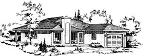Florida House Plan 58852 with 2 Beds, 2 Baths, 1 Car Garage Elevation
