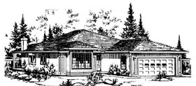 Contemporary House Plan 58856 Elevation