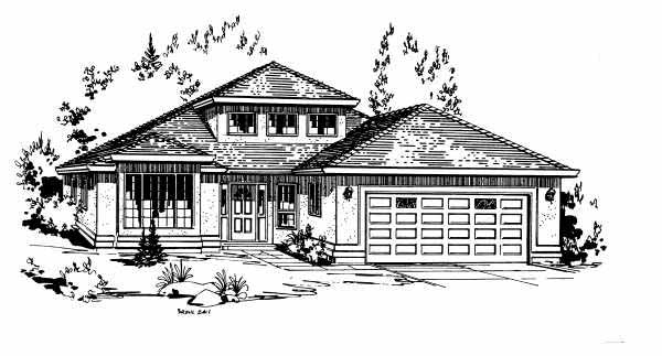 Ranch House Plan 58857 Elevation