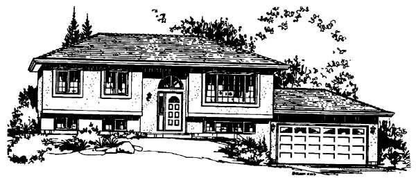 Ranch House Plan 58859 Elevation