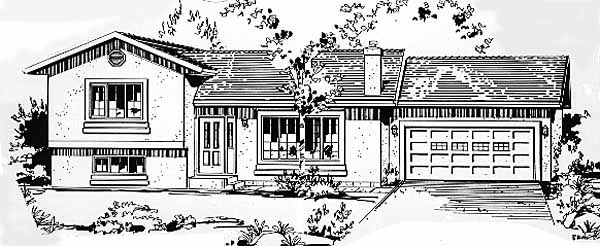 Ranch House Plan 58860 Elevation
