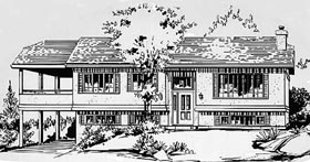 Ranch House Plan 58861 Elevation