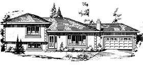 House Plan 58862 | Farmhouse Style Plan with 1292 Sq Ft, 3 Bedrooms, 2 Bathrooms, 2 Car Garage Elevation