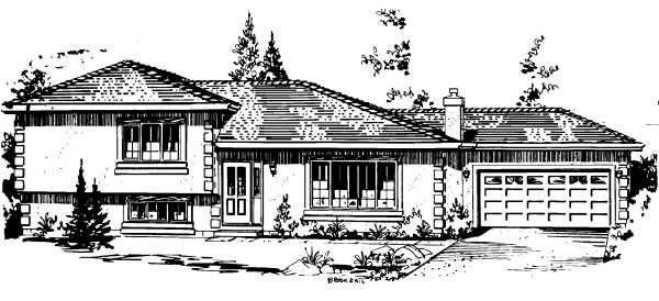 Farmhouse Elevation of Plan 58862