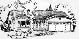 Ranch House Plan 58863 Elevation