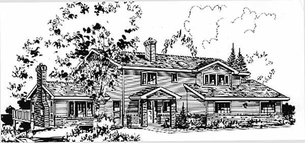 Country House Plan 58872 Elevation