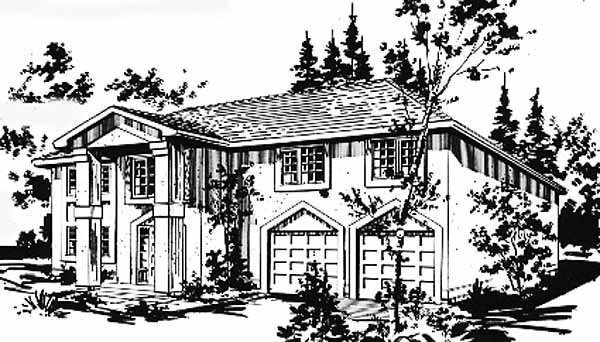 European House Plan 58883 Elevation
