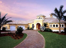House Plan 58911 | Florida Style Plan with 4043 Sq Ft, 3 Bedrooms, 4 Bathrooms, 3 Car Garage Elevation