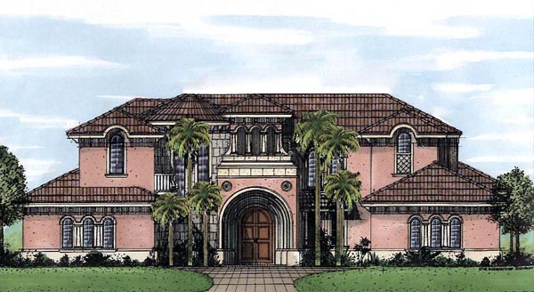 Florida House Plan 58928 with 6 Beds, 7 Baths, 3 Car Garage Elevation