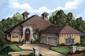 Florida House Plan 58929 Elevation