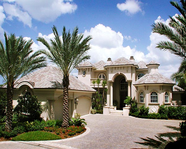 Florida House Plan 58930 with 5 Beds, 5 Baths, 3 Car Garage Elevation