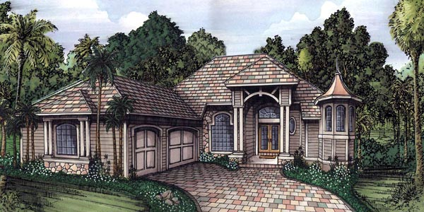 Florida House Plan 58932 Elevation