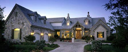 European House Plan 58938 with 3 Beds, 4 Baths, 2 Car Garage Elevation