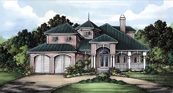 Florida House Plan 58955 Elevation