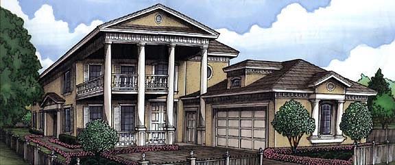 Florida Plantation House Plan 58968 Elevation