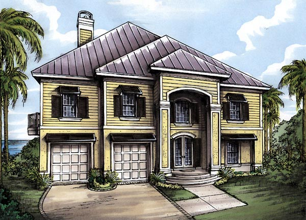 Florida House Plan 58976 Elevation